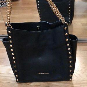 Michael Kors Newbury Studded Leather Chain Tote